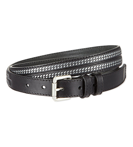 THE KOOPLES Metal chain belt (Black/silver