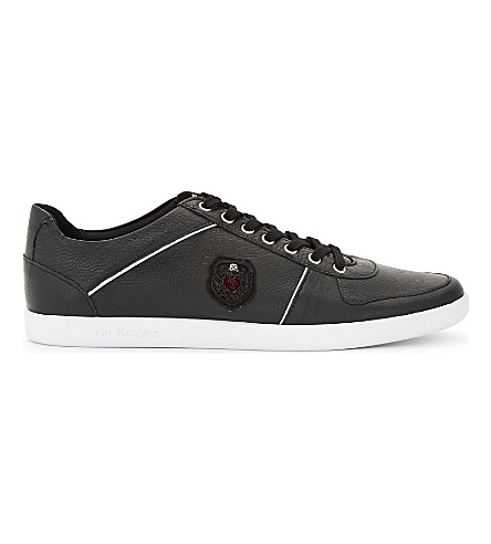 THE KOOPLES SPORT Leather lace-up trainers