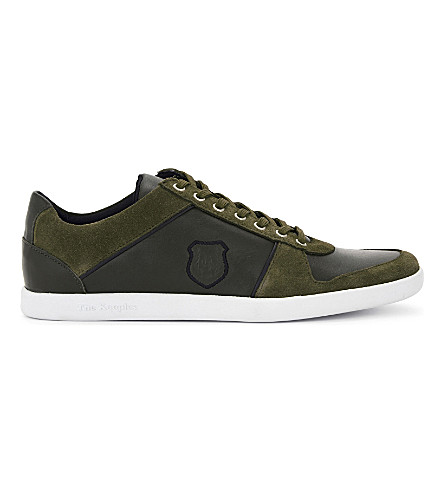 THE KOOPLES SPORT Leather & suede lace-up sneakers (Kak01