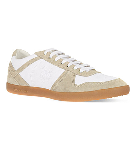 THE KOOPLES SPORT Canvas & suede trainers (White