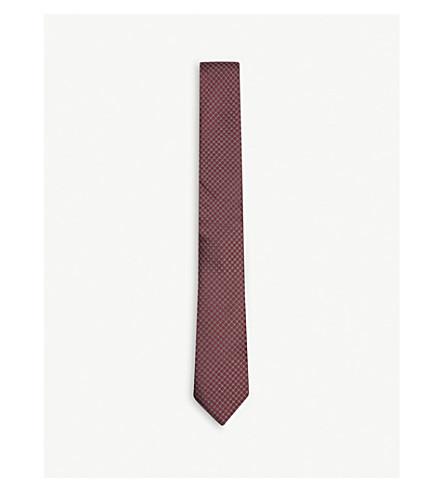 THE KOOPLES Circle-dot silk tie