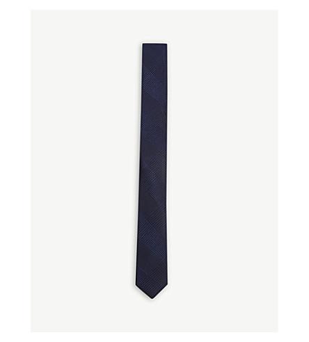THE KOOPLES Check slim silk tie (Blu44