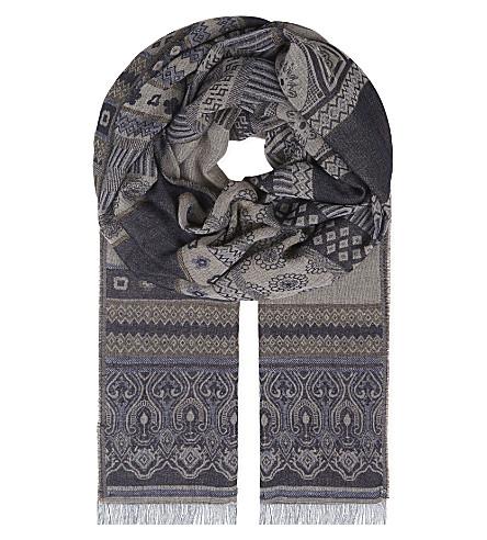 THE KOOPLES Ethnic-print scarf (Nav56