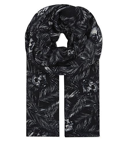 THE KOOPLES SPORT Skull print scarf (Bla01