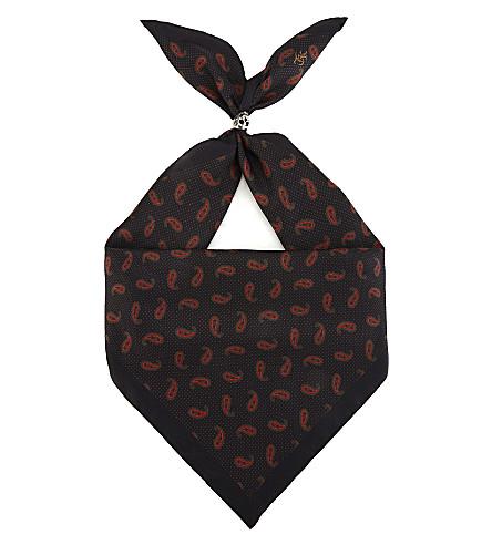 THE KOOPLES Bandana print silk scarf (Bla01