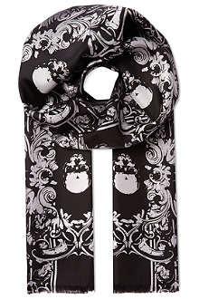 THE KOOPLES Royal skull silk scarf