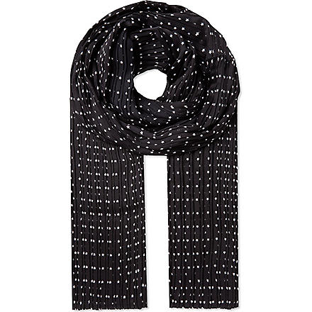 THE KOOPLES Microstars scarf (Dark navy - white