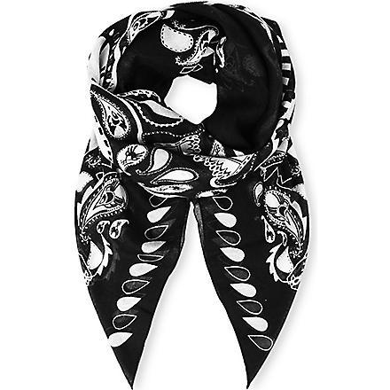 THE KOOPLES SPORT Oversize bandana-style sports scarf (Black / white