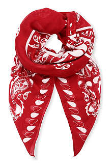 THE KOOPLES SPORT Oversize bandana-style sports scarf