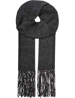 THE KOOPLES Fringe knitted scarf
