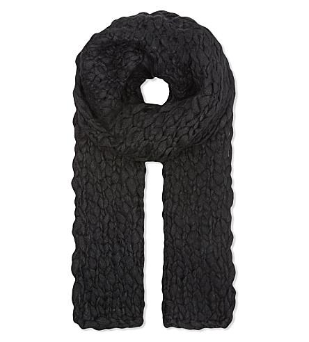 THE KOOPLES Coarse-knit scarf (Black