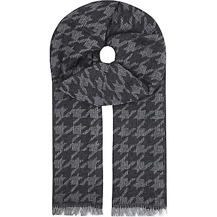 THE KOOPLES Dogstooth scarf (Black/white