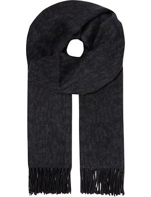 THE KOOPLES Jacquard leopard print scarf