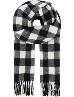 THE KOOPLES SPORT Wool jacquard scarf