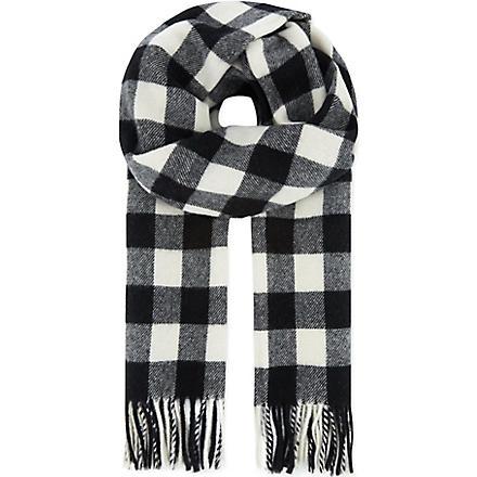 THE KOOPLES SPORT Wool jacquard scarf (Black/white