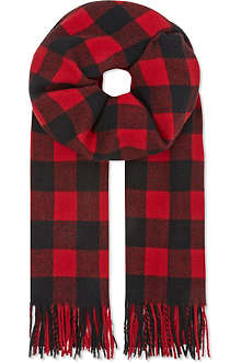 THE KOOPLES SPORT Wool checked scarf