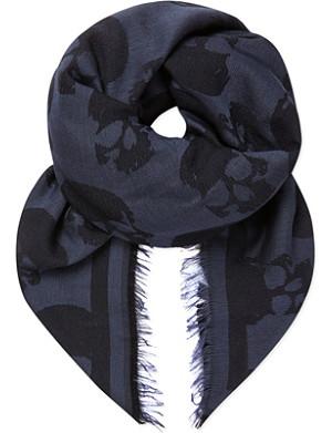 THE KOOPLES Skull-print scarf