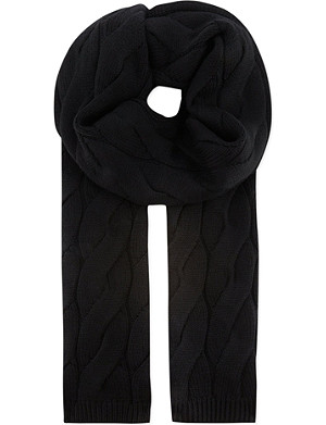 THE KOOPLES SPORT Big cable knit scarf