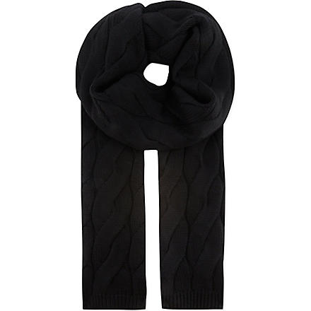 THE KOOPLES SPORT Big cable knit scarf (Black