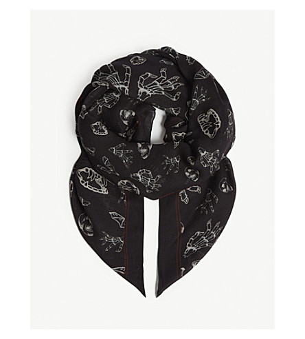 THE KOOPLES Horror Show scarf (Bla01