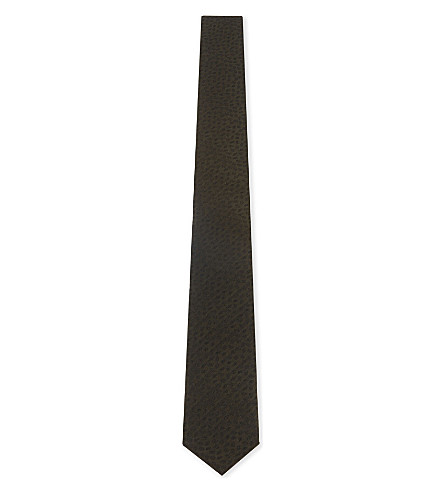 THE KOOPLES Embroidered leaf silk tie (Kak01