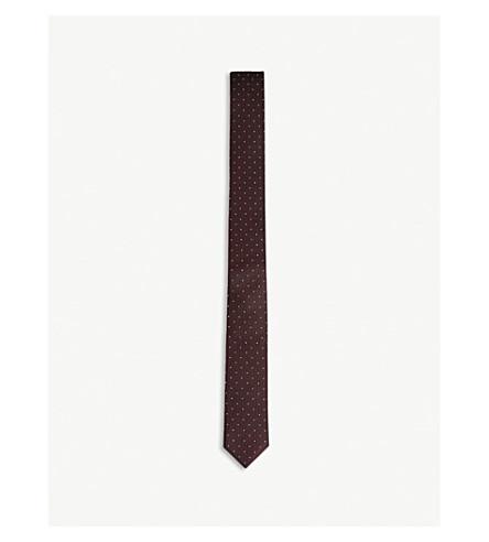 THE KOOPLES Micro-dot skinny silk tie (Bur01