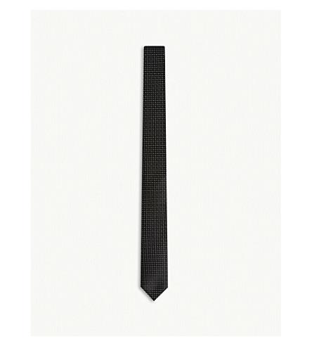 THE KOOPLES Micro-print silk tie (Bla01