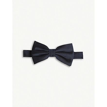 THE KOOPLES Silk bow tie (Navy
