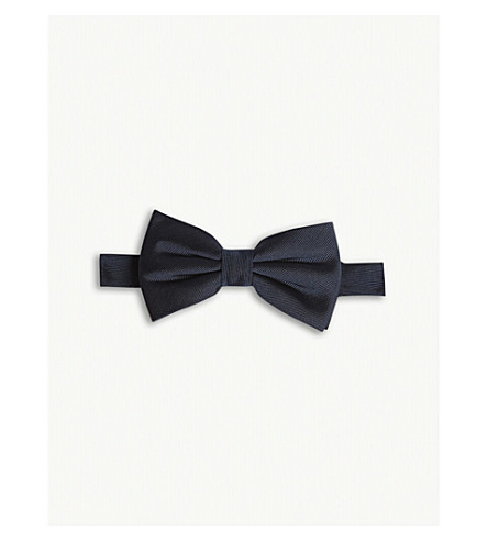 THE KOOPLES Silk bow tie (Navy