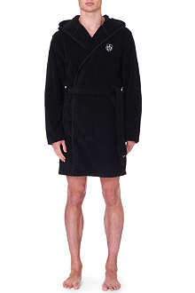THE KOOPLES SPORT Branded cotton-terry bathrobe