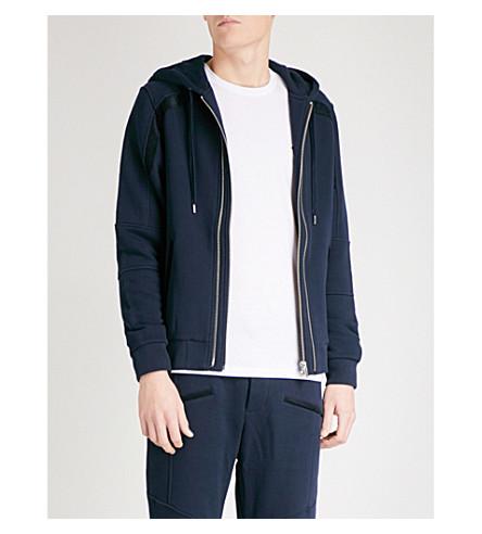 THE KOOPLES Contrast-trim cotton-jersey hoody (Nav03