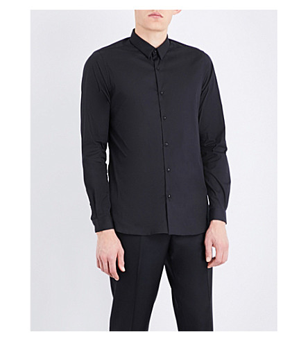 THE KOOPLES Fitted cotton shirt (Bla01