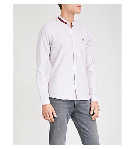 THE KOOPLES Striped cotton-poplin shirt (Bur01