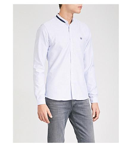 THE KOOPLES Striped cotton-poplin shirt (Whi06