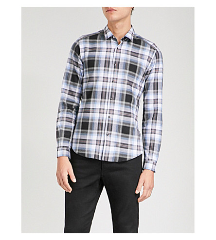 THE KOOPLES Check brushed-cotton shirt (Blaa7