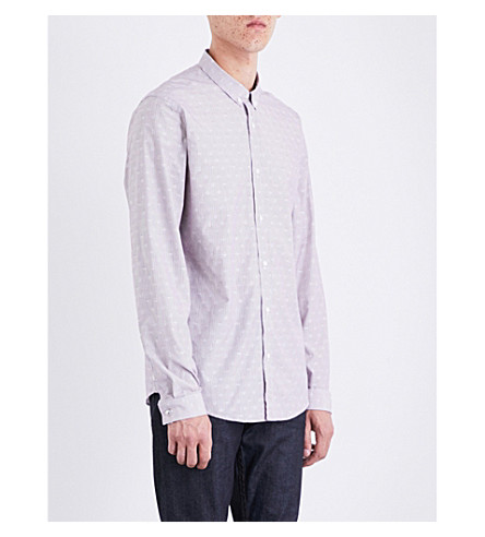 THE KOOPLES Striped cotton-poplin shirt (Whi53