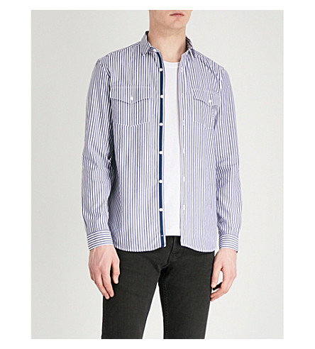 THE KOOPLES Regular-fit striped cotton shirt (Whi28