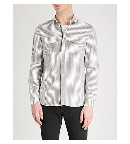 THE KOOPLES Regular-fit striped cotton shirt (Whi42