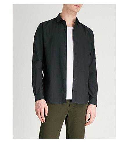 THE KOOPLES Slim-fit cotton-canvas shirt (Bla01