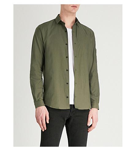 THE fit lona algodón slim de Kak05 de Camisa KOOPLES fwxrqfT