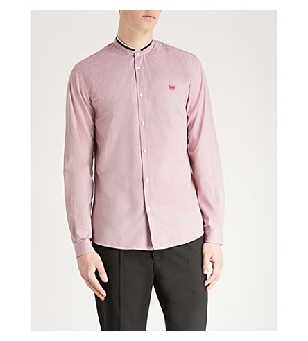 THE KOOPLES Officer-collar regular-fit checked cotton shirt (Red01