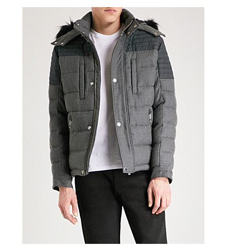THE KOOPLES Quilted wool-blend down coat (Gry15