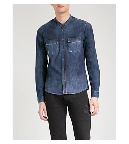 THE KOOPLES Fitted denim shirt - ATTRIBUTES? (Blue6