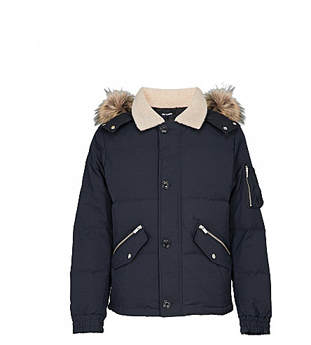THE KOOPLES Hooded shell-down jacket (Nav01