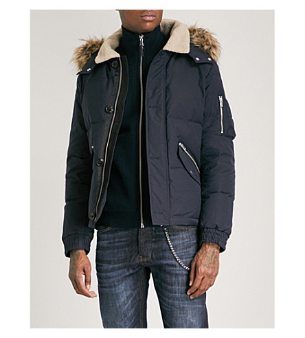 THE KOOPLES Hooded shell-down jacket (Nav01