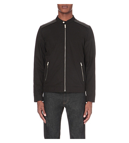 THE KOOPLES Zipper-up shell jacket (Black