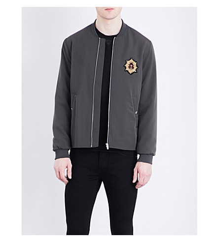THE KOOPLES Badge-detailed bomber jacket (Kak01