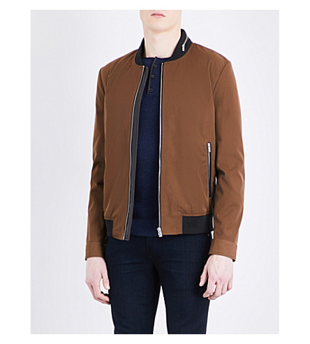 THE KOOPLES SPORT Campus cotton-blend bomber jacket (Cam01