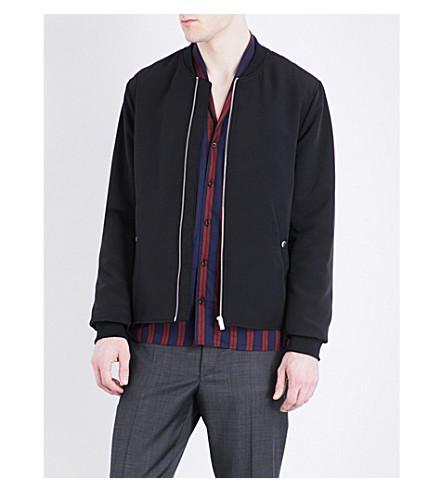 THE KOOPLES Pocket-detailed satin bomber jacket (Bla01