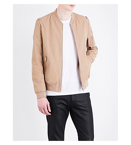 THE KOOPLES Cotton-blend bomber jacket (Bei01